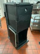 DESCRIPTION: CAMBRO DOUBLE STACK INSULATED CATERING BOXES - ON CASTERS. LOCATION: KITCHEN QTY: 1