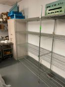 """DESCRIPTION: (4) 48"""" X 18"""" FOUR TIER WIRE RACKS - ALL FREE STANDING LOCATION: KITCHEN QTY: 4"""