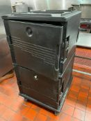 DESCRIPTION: CAMBRO DOUBLE STACK WIDE INSULATED CATERING BOXES - ON CASTERS. LOCATION: KITCHEN QTY: