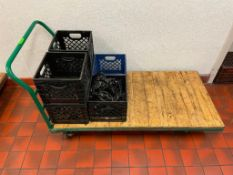 """DESCRIPTION: 60"""" HEAVY DUTY WAREHOUSE CART BCL CAN SHUTTLE THIS ITEM FOR: $50 SIZE: 60"""" X 30"""" LOCATI"""