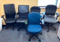 DESCRIPTION ASSORTED OFFICE CHAIRS AS SHOWN LOCATION 540 THIS LOT IS ONE MONEY QUANTITY 1