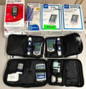 DESCRIPTION: DIABETIC / GLUCOSE MONITOR DEVICE SET ADDITIONAL INFORMATION: SEE PHOTOS. SOLD AS SET.