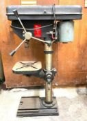 """DESCRIPTION: 12"""" BENCH TOP DRILL PRESS BRAND / MODEL: DAYTON THIS LOT IS: ONE MONEY QTY: 1"""
