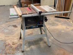 """DESCRIPTION: 10"""" TABLE SAW BRAND / MODEL: DELTA ADDITIONAL INFORMATION: GREAT CONDITION. SEE PHOTOS."""