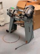 """DESCRIPTION: 4"""" X 6"""" HORIZONTAL BAND SAW BRAND / MODEL: DELTA LOCATION: MAINTENANCE ROOM THIS LOT IS"""