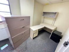 DESCRIPTION CONTENTS OF ROOM (ASSORTED OFFICES FURNITURE AS SHOWN) LOCATION 546 THIS LOT IS ONE MONE