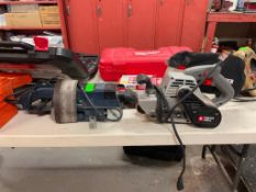 DESCRIPTION: ELECTRIC SANDER PAIR WITH ADDITIONAL BELTS THIS LOT IS: ONE MONEY QTY: 1