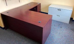 DESCRIPTION CONTENTS OF ROOM (ASSORTED OFFICES FURNITURE AS SHOWN) LOCATION 547 THIS LOT IS ONE MONE