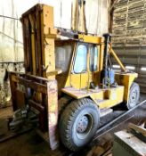 DESCRIPTION 40,000 LB. CAPACITY FORK TRUCK WITH ACS ATTACHMENT BRAND/MODEL TAYLOR ADDITIONAL INFO 18