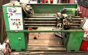 DESCRIPTION INDUSTRIAL METAL LATHE BRAND/MODEL SHARP 1440 ADDITIONAL INFO SEE PHOTOS FOR MORE DETAIL