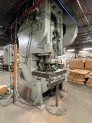 E.W. BLISS 30 200 TON STAMPING PRESS LOADING PROFESSIONAL RIGGER REQUIRED FOR REMOVAL. UNIT WILL NEE
