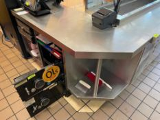 DESCRIPTION: THREE PIECE STAINLESS SALES COUNTER SET. LOCATION: FRISCO TEXAS QTY: 1