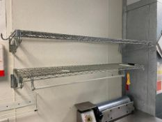 """DESCRIPTION: (2) 48"""" X 12"""" WALL MOUNTED WIRE SHELVES. ADDITIONAL INFORMATION ONE MONEY LOCATION: FRI"""