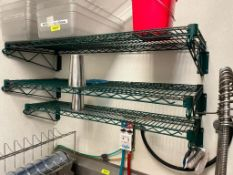 """DESCRIPTION: (5) ASSORTED 48"""" COATED WIRE WALL SHELVES. ADDITIONAL INFORMATION ONE MONEY LOCATION: F"""