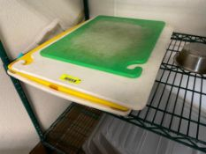 DESCRIPTION: (4) ASSORTED PLASTIC CUTTING BOARDS ADDITIONAL INFORMATION ONE MONEY LOCATION: FRISCO T