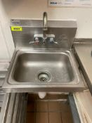 DESCRIPTION: ADVANCE TABCO STAINLESS HAND SINK BRAND / MODEL: ADVANCE TABCO ADDITIONAL INFORMATION W