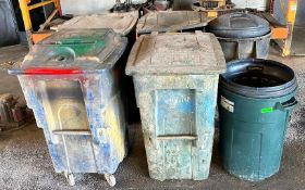 DESCRIPTION ASSORTED TRASH RECEPTICLES AS SHOWN THIS LOT IS ONE MONEY QUANTITY 1