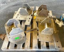 DESCRIPTION INDUSTRIAL STEEL BRACKETS AS SHOWN THIS LOT IS ONE MONEY QUANTITY 1