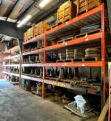 (4) SECTIONS OF 11' PALLET RACKING (SECOND DAY PICKUP ONLY) ADDITIONAL INFO (6) UPRIGHTS, (32) CROSS