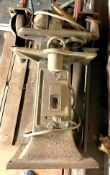 VINTAGE BENCH GRINDER ON STAND ADDITIONAL INFO SEE PHOTOS FOR MORE DETAIL, WORKING CONDITION UNKNOWN