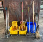 DESCRIPTION ASSORTED CLEANING EQUIPMENT AND SUPPLIES AS SHOWN THIS LOT IS ONE MONEY QUANTITY 1