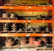ASSORTED GEARS AND OTHER HEAVY DUTY MACHINERY PARTS AS SHOWN ADDITIONAL INFO SEE PHOTOS FOR MORE DET