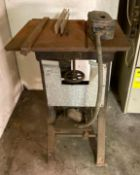 WILLIAMS LLOYD MACHINERY TABLE SAW ADDITIONAL INFO WORKING CONDITION UNKNOWN LOCATION PARTS ROOM QUA