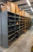 SHELVING UNITS WITH LARGE AMOUNT OF AUTOMOTIVE AND HEAVY MACHINERY PARTS AS SHOWN ADDITIONAL INFO SE