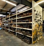 (5) SECTIONS OF 8.5' PALLET RACKING (SECOND DAY PICKUP ONLY) ADDITIONAL INFO (6) UPRIGHTS, (50) CROS