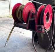 DESCRIPTION (2) REELCRAFT MOUNTED HOSE REAL THIS LOT IS SOLD BY THE PIECE QUANTITY 2