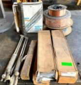 DESCRIPTION ASSORTING WELDING WIRE AND ACCESSORIES AS SHOWN THIS LOT IS ONE MONEY QUANTITY 1