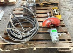 DESCRIPTION CONTENTS OF PALLET (VARIOUS TOOLS AS SHOWN) THIS LOT IS ONE MONEY QUANTITY 1