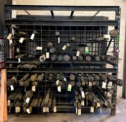 """SLOTTED HOLE STYLE PALLET RACKING CAGE SIZE 96""""X40""""X96"""" LOCATION PARTS ROOM QUANTITY: X BID 1"""
