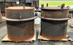 """DESCRIPTION (2) 60"""" STEEL MELTING FURNACE CASTING THIS LOT IS SOLD BY THE PIECE QUANTITY 2 (2) 60"""" S"""