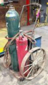 DESCRIPTION INDUSTRIAL WELDING CART W/ CAST IRON WHEELS ADDITIONAL INFORMATION TANKS ARE NOT INCLUDE