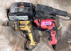 DESCRIPTION ASSORTED POWER TOOLS AS SHOWN THIS LOT IS ONE MONEY QUANTITY 1