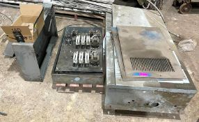 DESCRIPTION ASSORTED CONTROL PANELS & ELECTRICAL HARDWARE AS SHOWN (FOR PARTS) THIS LOT IS ONE MONEY