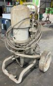 DESCRIPTION INDUSTRIAL ELECTRIC AIRLESS PAINT SPRAYER AS SHOWN (WORKING CONDITION UNKNOWN) QUANTITY