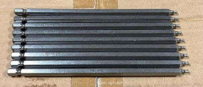 DESCRIPTION: (1) CASE OF ROBERSTON H2.5 X 1500 BALL HEX SHANKS. 500 IN CASE THIS LOT IS: ONE MONEY Q
