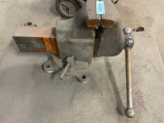"""DESCRIPTION: 5"""" HEAVY DUTY TABLE MOUNTED VICE QTY: 1"""