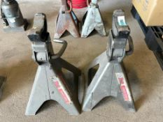 DESCRIPTION: (2) HEAVY DUTY JACK STANDS. THIS LOT IS: ONE MONEY QTY: 1