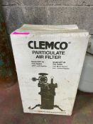 DESCRIPTION: CLEMCO 03578 PARTICULATE AIR FILER QTY: 1