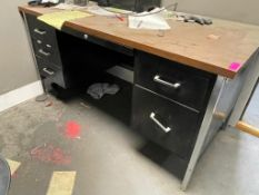 DESCRIPTION: DESK, FILE CABINET, AND CHAIR THIS LOT IS: ONE MONEY QTY: 1