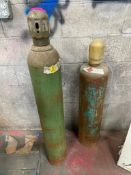 DESCRIPTION: (2) ASSORTED GAS CYLINDERS. ADDITIONAL INFORMATION MAYBE LEASED QTY: 1