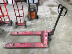 DESCRIPTION: 2 TON CAPACITY PALLET JACK - RED ADDITIONAL INFORMATION IN WORKING ORDER QTY: 1