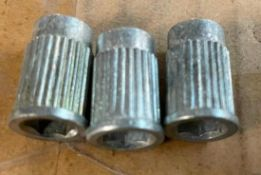 DESCRIPTION: (3) CASES OF 4 IN 1 SCREW DRIVER BUSHINGS. 2000 PIECES PER CASE. 6000 IN LOT QTY: 1