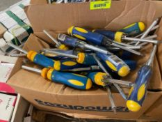 DESCRIPTION: (1) OPEN CASE OF ASSORTED EAZY POWER SCREW DRIVERS. ADDITIONAL INFORMATION APPROX. 50 I