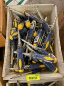 DESCRIPTION: (1) OPEN CASE OF ASSORTED EAZY POWER SCREW DRIVERS. ADDITIONAL INFORMATION APPROX. 100