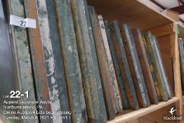 (59) 21 x 21 wood screens