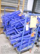 """16"""" Galvanized skate conveyor on 8 carts with legs, 430 feet of 10' x 16 and 100 feet of 4' x 5"""